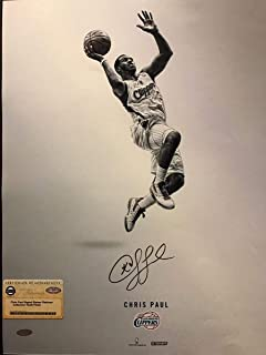 Autographed/Signed Chris Paul Los Angeles LA Clippers 16x20 Basketball Photo Steiner Sports COA