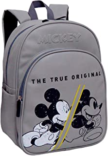 Mickey 90 Aniversario True Original Mochila Infantil, 42 Cm, Gris