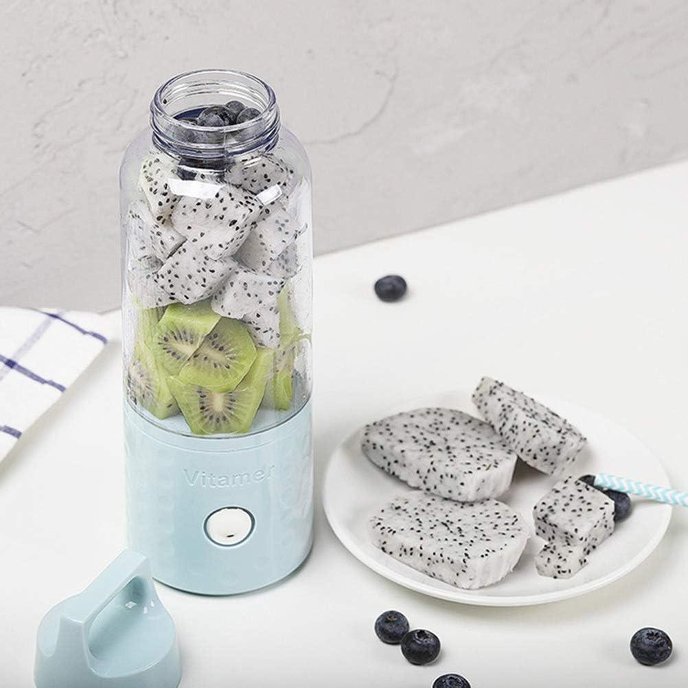 Portable Juicer Cup Blender Personal Mini Mezclador Al Aire Libre USB Recargable Exprimidor Exprimidor de Fruta Fabricante de Frutas para El Hogar 500 ml (Color : White) White