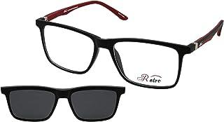 نظارة طبية باطار كامل بلون اسود/احمر سي: 4 M من ريترو 4018، (سو) (مشبك)