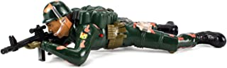 Toy Action Figures Crawling Flash Corp Army Soldier Battery Operated w/ Realistic Crawling Action, Lights, Sounds (Colors May Vary)