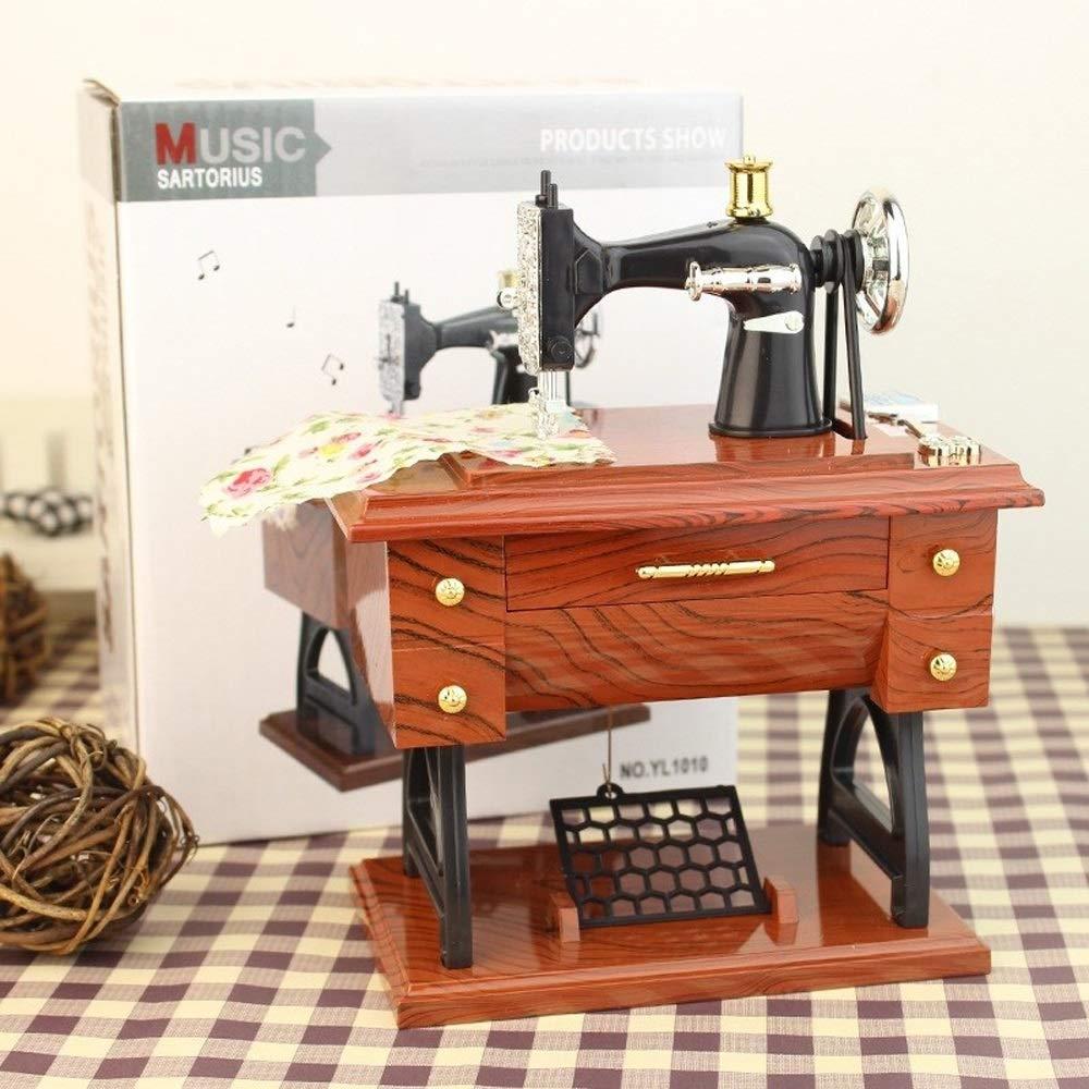 QPLNTCQ La Caja de música Mini máquina de Coser de la Caja de ...