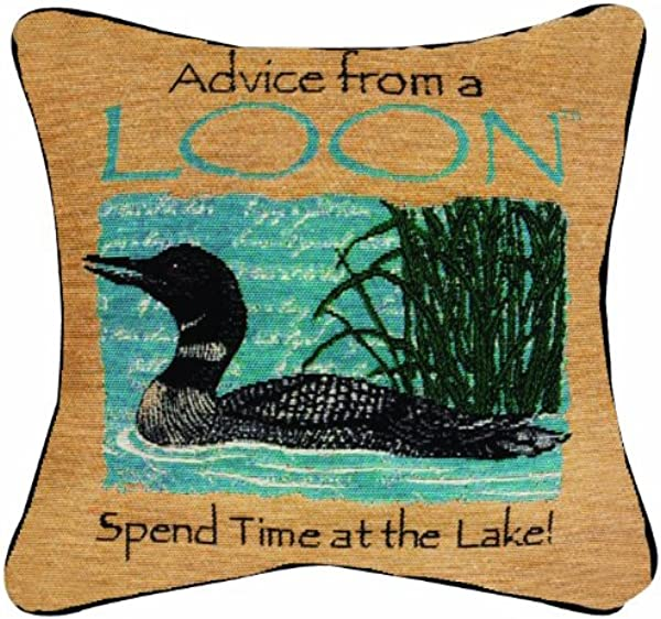 Manual Advice From A Loon Pillow 12 1 2 Inch Square