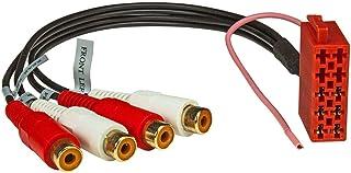 tomzz Audio 7500 009 ISO Stecker Gehäuse LINE Out 10 pol. Vorverstärker Adapter Cinch 4 Kanal Remote