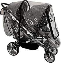 Weather Shield for Front and Rear Double Stroller.Universal Double Stroller Rain Cover