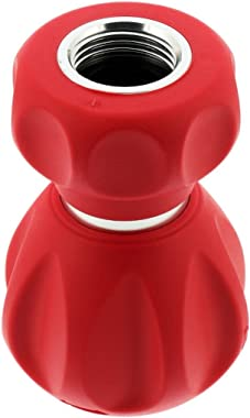 Ultimate Fireman's Bright, Fun Colored, 5 Spray Pattern Outdoor Hose Nozzle - from Powerful Water Jet for Heavy Duty Cleaning to Soft Sprayer for Watering a Lawn or Garden Flowers- Bright Red
