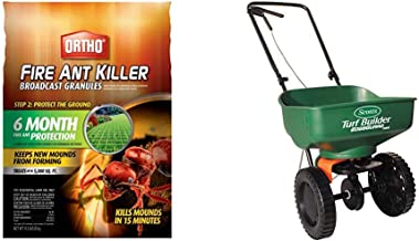 Ortho 0200310 Fire Ant Killer Broadcast Granules: Treats up to 5,000 sq. ft, 11.5 lbs, 1.5 lb & Scotts Turf Builder EdgeGuard Mini Broadcast Spreader - Holds up to 5,000 sq. ft.