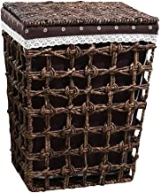 JUAN Dirty Clothes Storage Hampers Rattan With Lid Storage Bucket Clothes Toy Finishing Storage Basket Brown (Size : 39cm*...