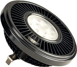 SLV QRB111, 19,5W, Power LED Light Bulb, 2700K, 30°C, G53, Dimmable, Black 570602