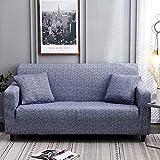 Sofabezug, Stretch, 1 / 2 / 3 / 4 Sitzer, elastischer Stoff, bedruckt, Muster für Sessel, Sofabezug, Sofa-Schonbezug, Möbelschoner 2-Sitzer A-Denim Blue