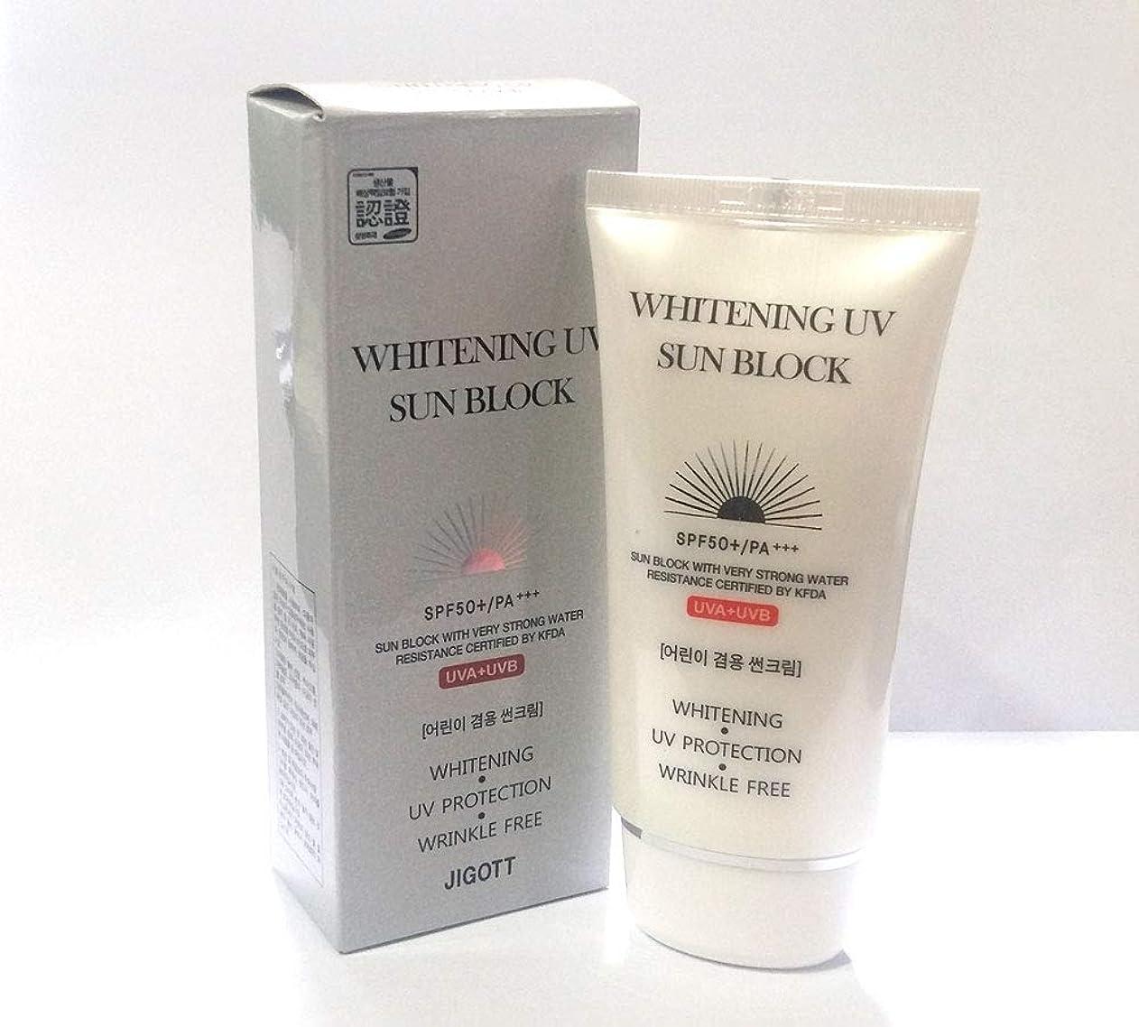 飼い慣らす製造望遠鏡[JIGOTT] ホワイトニングUVプロテクトサンブロッククリームSPF50 + PA +++ / Whitening UV Protection Sun Block Cream SPF50+ PA +++ / 韓国化粧品/Korean Cosmetics (1EA) [並行輸入品]
