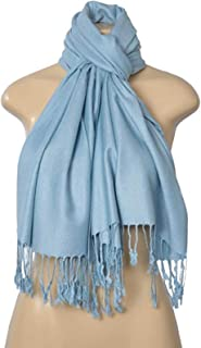 """Elegant Pashmina Silk Blend Soft Wrap Scarf Shawl - Solid Colors""""FREE GIFT"""" (seller fulfilled only)"""