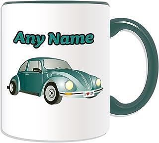 Personalisierbares Geschenk – hellgrüne Auto-Tasse (Trans