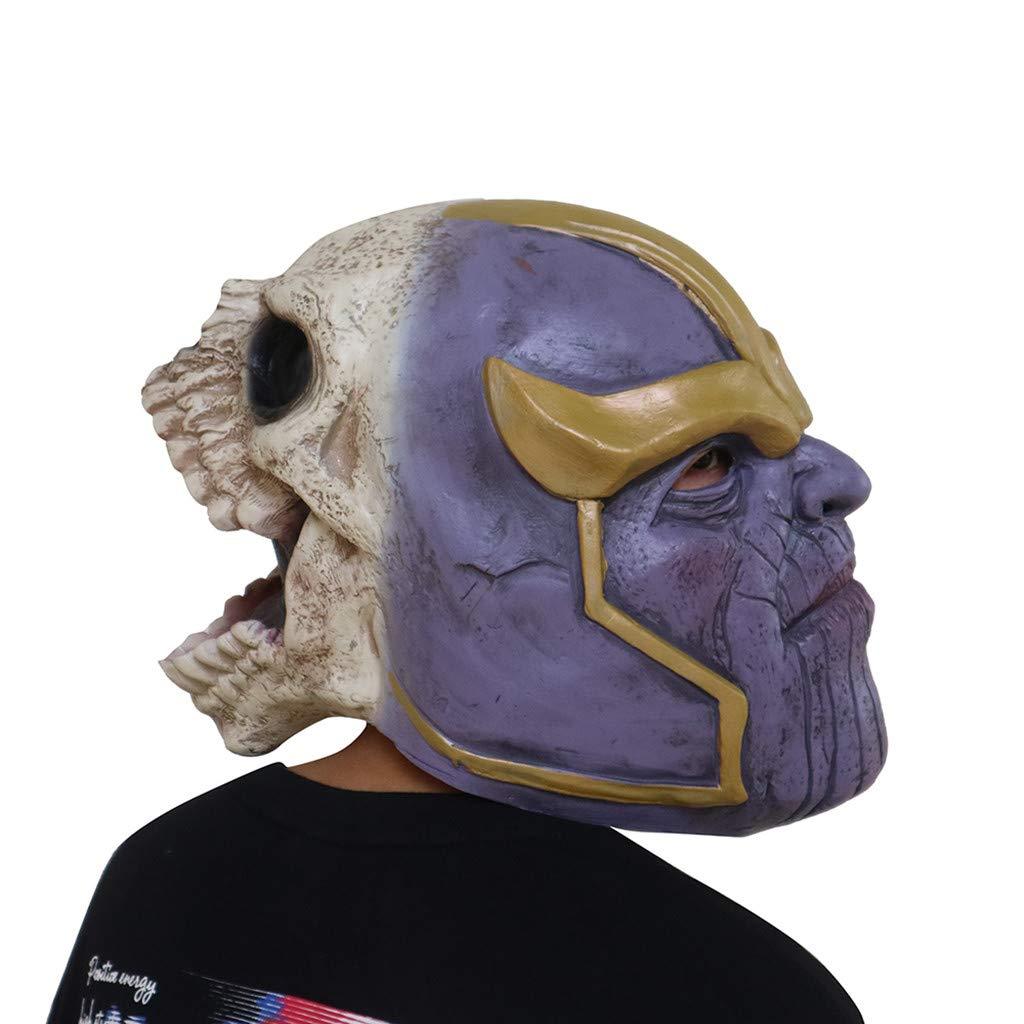 FUGUI Thanos Máscara Cosplay Accesorios de Disfraces de Halloween ...