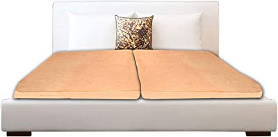 Stylista Mattress Protector Hypoallergenic/Waterproof Terry Cotton Double Bed Set of 2 Size LxW 75x36 Beige