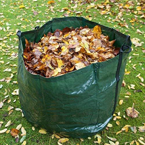 Ossian Jumbo Heavy Duty Gartenabfallsack mit Tragegriffen - Extra Groß Wiederverwendbar Premium 300L Faltbar Leicht UV Wasserabweisend Outdoor Müllsack für Müll Gras Unkraut