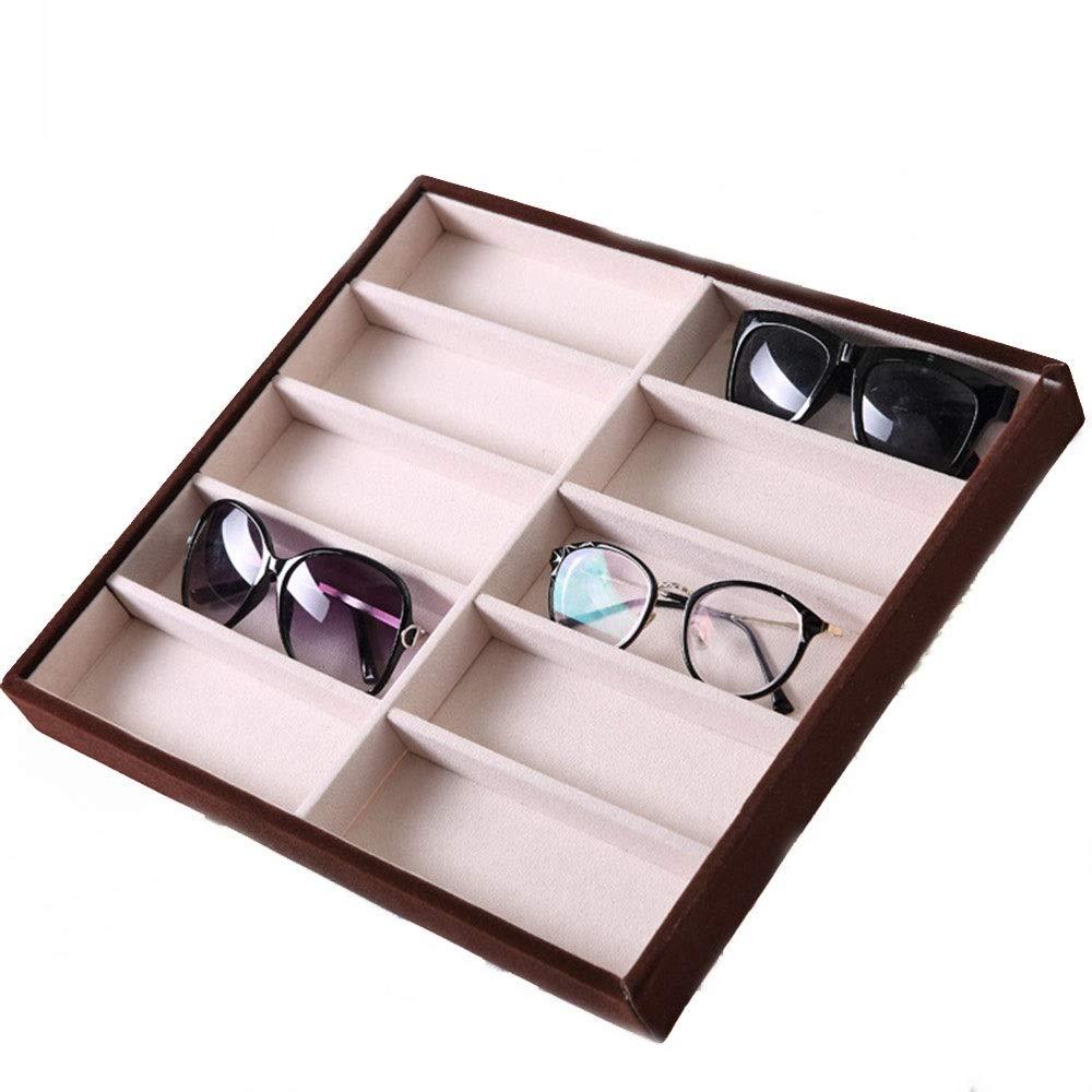 PN-Braes Caja de Almacenamiento de Gafas 10 Cuadrícula de Gafas de Sol Caja de exhibición Gafas de Sol Gafas de Pantalla Accesorios de Pantalla Vitrina de Gafas de Sol (Size : 36 *