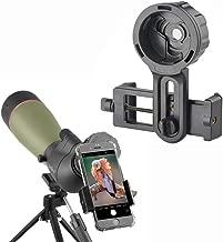 Gosky Telescope Phone Photo Adapter - Compatible Spotting Scope Binoculars Monocular Telescope, Fit Almost All Brands Smartphones