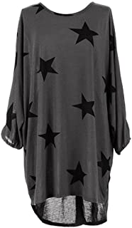 DaySeventh Women's Oversized Plus Size Batwing Sleeve Baggy Tops Blouse