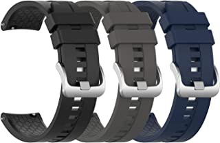 EEweca 3-Pack Silicone Bands for Huawei Watch GT Classic Replacement Strap