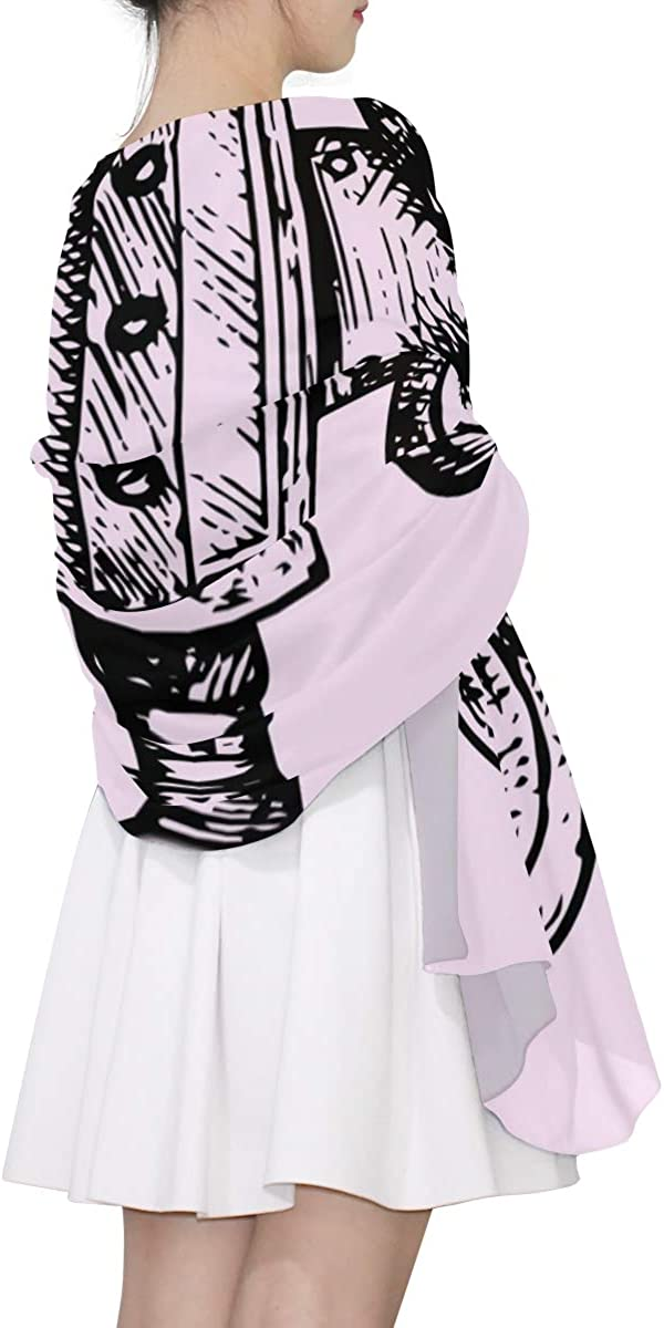 Hand Drawn Cute Camera Unique Fashion Scarf For Women Lightweight Fashion Fall Winter Print Scarves Shawl Wraps Gifts For Early Spring