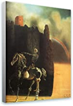 Alonline Art - Horseman Of Death by Salvador Dali | print on canvas | Ready to frame (synthetic, Rolled) | 20