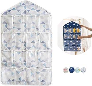 whatUneed, Portaoggetti con 16tasche trasparenti da appendere, organizer per armadio, adatto a biancheria intima calzini,...