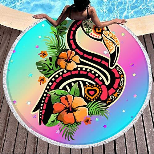 BBOOUAG Toalla de playa con diseño de calavera, suave, redonda, para yoga, meditación, picnic, 150 cm, para decoración de interiores, tapete de café, mesa de camping, mantel, baño blanco