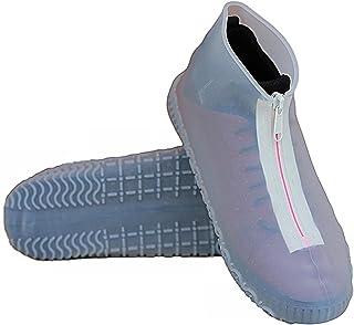 WPW Couvre-Chaussures Imperméables en Silicone Réutilisables, Couvre-Chaussures en Silicone avec Protecteurs en Silicone À...
