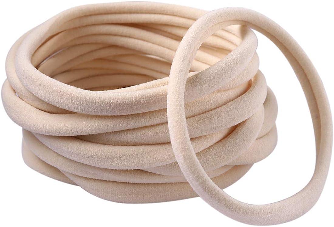 Wholesale Nylon Headbands Elastic One Size bulk baby nylon headbands
