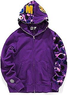 Bape Ape Shark Camo Hoodie Fashion Casual Teenage Adult Sweater Full Zipper Unisex Jacket