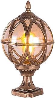 Globe Light Lantern Pillar Lamp IP54 Waterproof Outdoor Round Post Lights For Decking Gate Square Ball Street Lighting E27