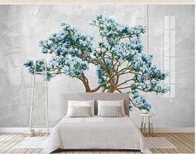 Papel Pintado Pared Tejido No Tejido Murales Árbol De Arte Zen Azul Papel De Pared 3D Fotográfico Decorativos Pared 200x140cm