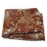 PEEGLI Indisch Frau Sarong Wickeln Braun Vintage Saree Die
