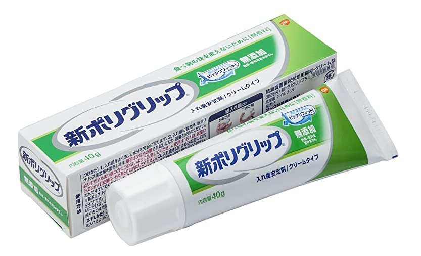 ロックデイジーインポート部分?総入れ歯安定剤 新ポリグリップ 無添加(色素?香料を含みません) 40g