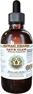 Cat's Claw Alcohol-FREE Liquid Extract, Cat's Claw (Uncaria Tomentosa) Dried Inner Bark Glycerite Hawaii Pharm Natural Herbal Supplement 4 oz