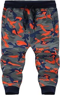 Goorape Men's Cotton 3/4 Joggers Casual Camo Shorts Training Gym Capri Trousers