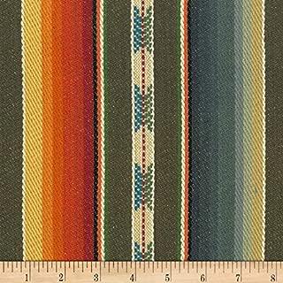 Laura & Kiran 0515049 Southwest Stripes Rio Grande MultiBasketweave Fabric by The Yard, Brown Multicolor