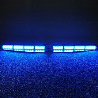 VSLED 2-16 LED 32 Watt Blue LED Light Car Truck Emergency Beacon Light Bar Exclusive Split Visor Deck Dash Strobe Warning ...