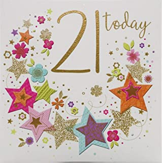 Milestone Age Birthday Card Age 21-138 mm sq inches - Zizi Cards