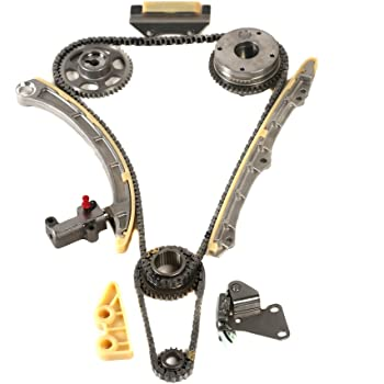 OCPTY Timing Chain Kit Tensioner Guide Rail Oil Pump Chain fits for 2002-2009 Honda Civic Acura RSX 2.0L K20Z3 TS21830