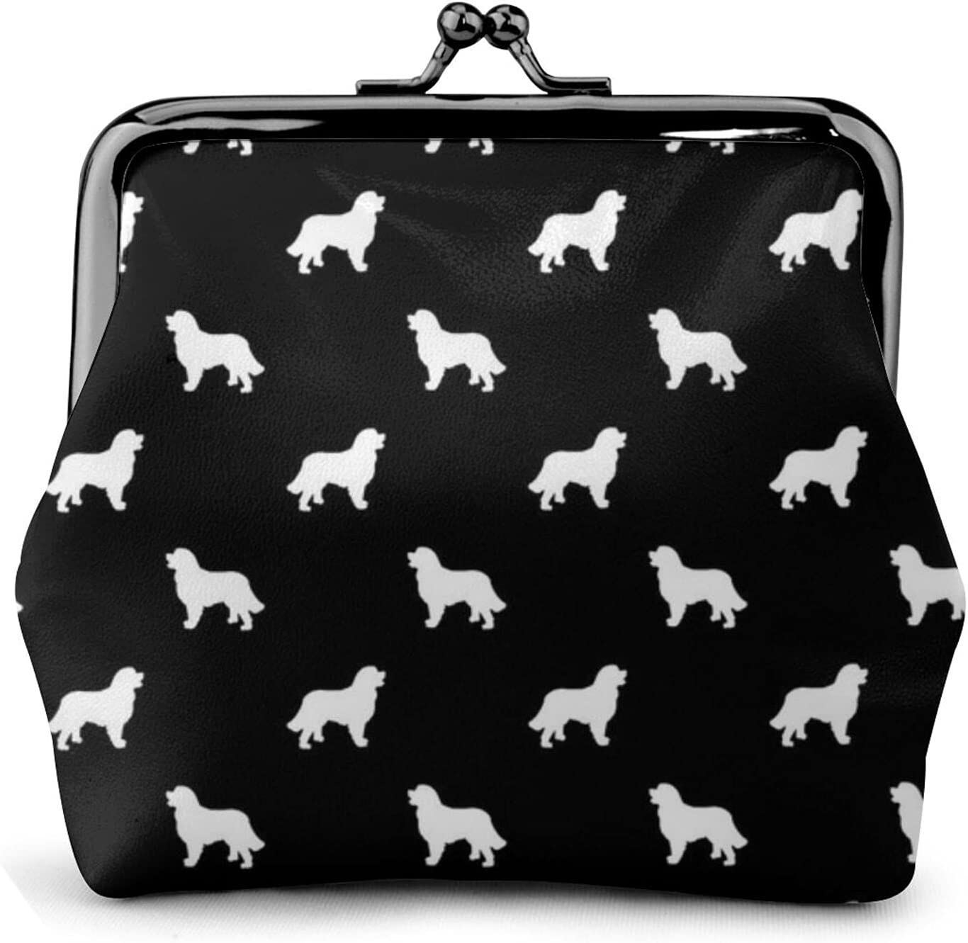 Bernese Mountain Dog 441 Coin Purse Retro Money Pouch with Kiss-lock Buckle Small Wallet for Women and Girls