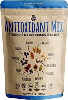 Daily Nuts Antioxidant Mix (7 TREE NUTS + 3 DRIED FRUITS, 48 OZ) (Kosher Certified)