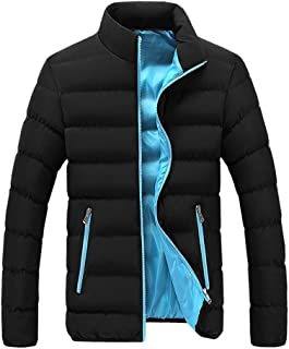 XLDD Mens Padded Jacket Full Zip Quilted Padded Winter Puffer Warm Coat Fleece Lined Warm Jackets Slim Fit Comfortable Out...