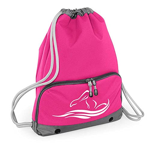 Doodleman Gym Bags - Swimming Motif Design Drawstring Backpacks -  Waterproof - Suitable for Adults and e0f3928827b2b