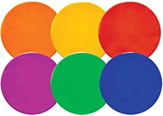 Champion Sports Poly Spot Markers – Set of 6: Multiple Colors and Sizes
