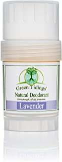 Green Tidings Organic All Natural Deodorant, Lavender, 1 Ounce