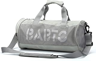 Men and Women Sports Bag,Holdall For Travel Luggage Gym Sports (Color : Gray, Size : Large)