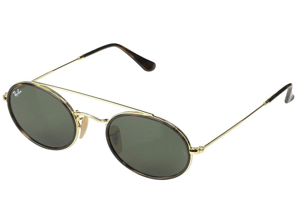 Ray-Ban RB3847N 52 mm. (Gold/Green) Fashion Sunglasses