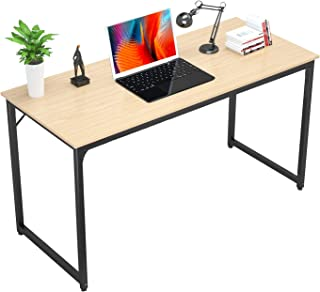 Foxemart Writing Computer Desk 39 Inch Modern Sturdy Office Desk PC Laptop Notebook Study Table for Home Office Workstation, Natural